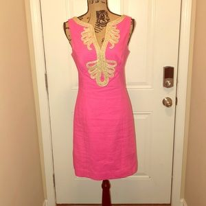 Lilly Pulitzer Pink & Gold Janice Shift